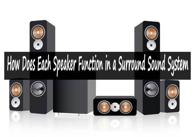 How Does Each Speaker Function in a Surround Sound System