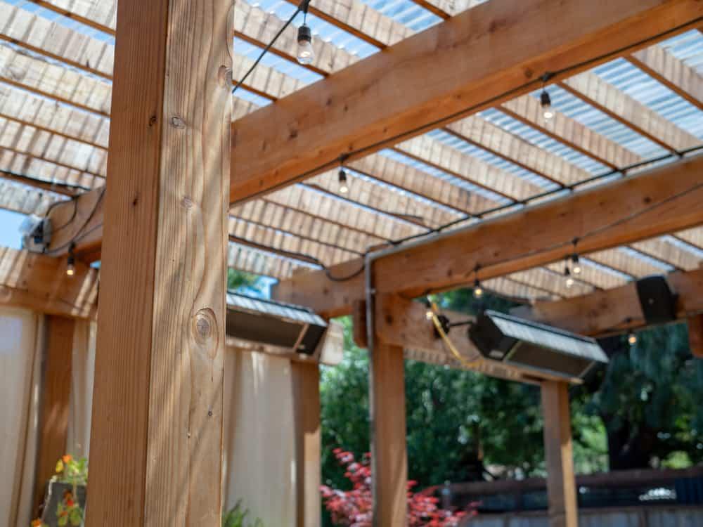 Outdoor restaurant set up audio