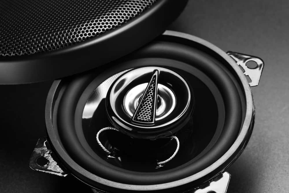black audio speaker for car