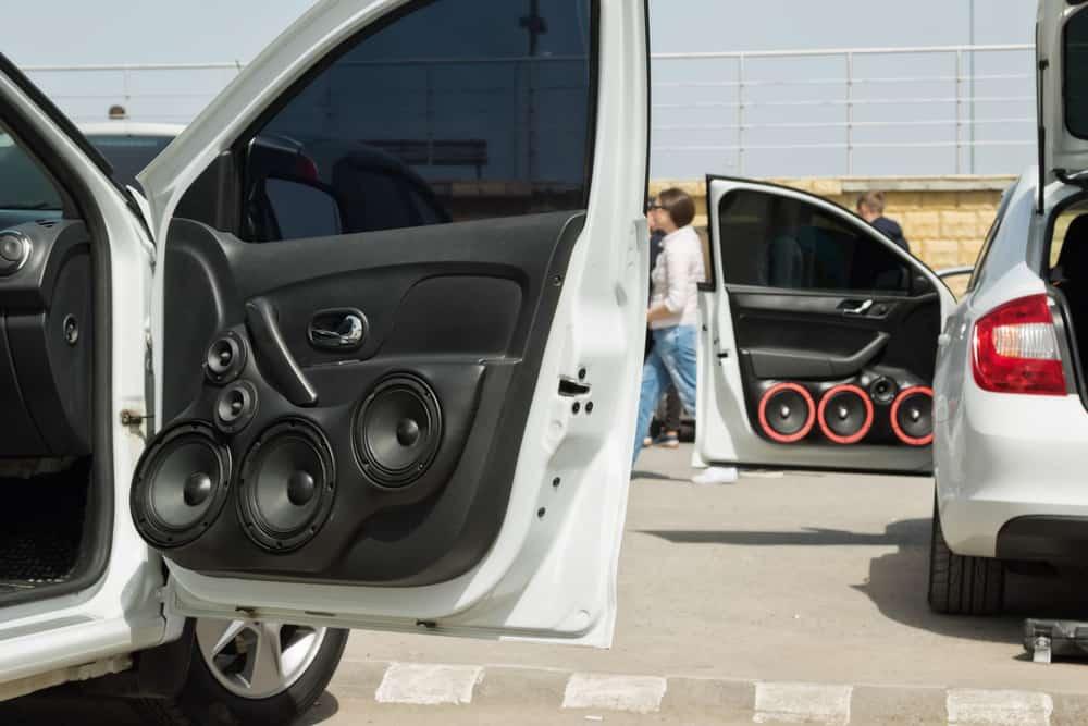 car installed audio speakers